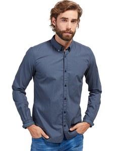 TOM TAILOR - Langarmhemd mit dezenter Musterung