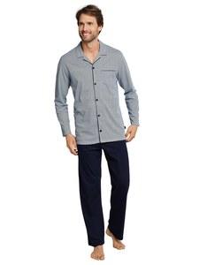 Schiesser - Pyjama langarm mit Knopfleiste