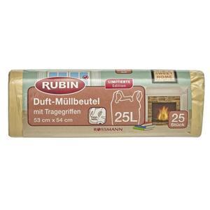 RUBIN Duft-Müllbeutel ´´Sweet Home´´ mit Tragegriffen 25 l