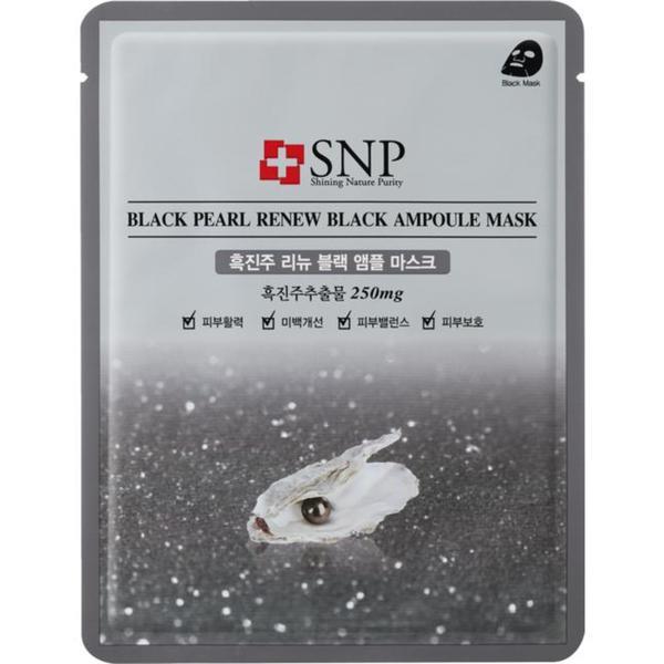 SNP Black Pearl Renew Black Ampoule Mask