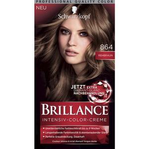 Schwarzkopf Brillance Intensiv-Color-Creme Farbe Nr. 864: Rehbraun