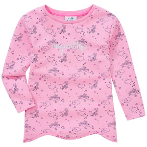 Mädchen Sweatshirt mit Einhorn-Print