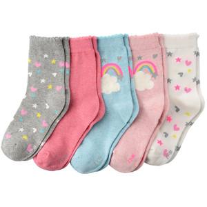 5 Paar Mädchen Socken mit Motiv