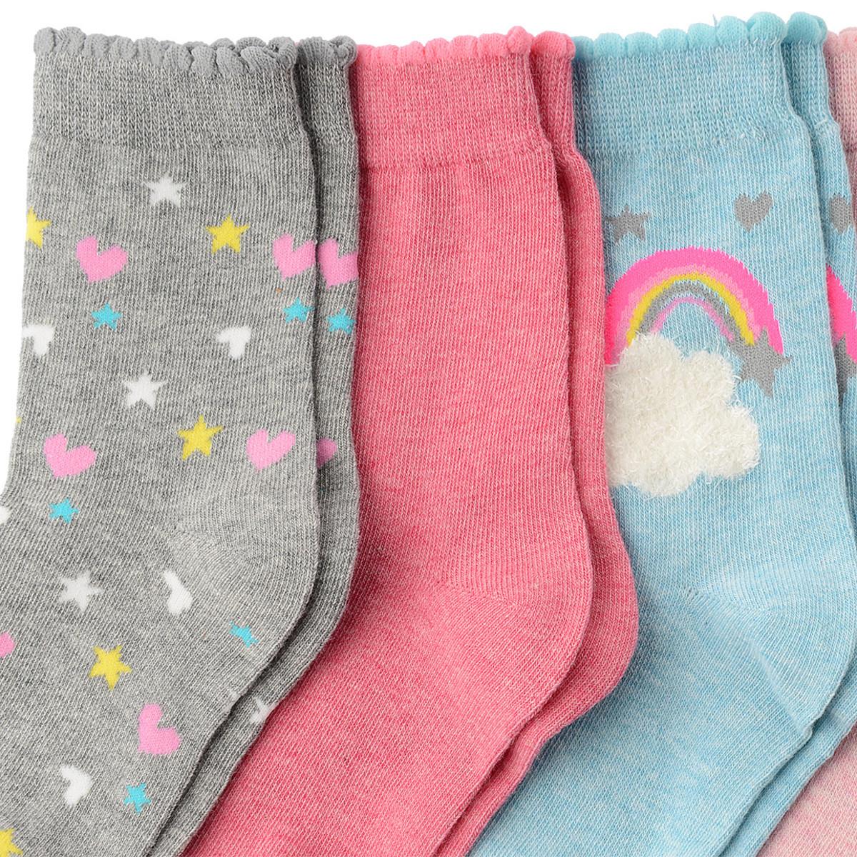 Bild 2 von 5 Paar Mädchen Socken mit Motiv