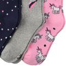 Bild 3 von 3 Paar Mädchen Socken mit Einhorn-Motiv