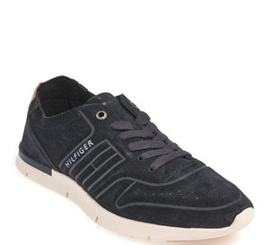 Tommy Hilfiger Schnürschuh - UNLINED TH LIGHT SUEDE RUNNER