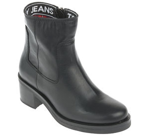 Tommy Jeans Boots - ESSENTIAL LEATHER BIKER BOOT