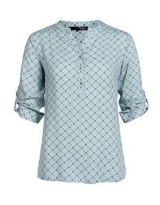 My Own - Bluse aus reiner Viskose mit Minimal-Print