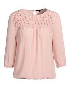 My Own - Bluse aus Polyester-Crepe mit Ziersteppungen