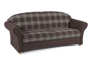 """Max Winzer Sofa 2,5-Sitzer """"Caro"""", Karo/Braun"""