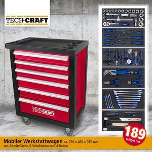 Tech Craft Werkstattwagen 189-tlg.