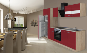 respekta Economy Küchenblock 300 cm, rot