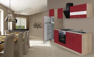 respekta Economy Küchenblock 270 cm, rot