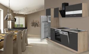 respekta Economy Küchenblock 280 cm, grau