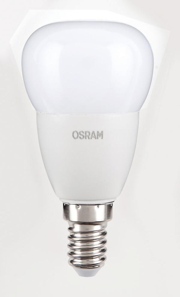 Osram LED Leuchtmittel 6er Tropfen 5,7 W / 827 FR E14