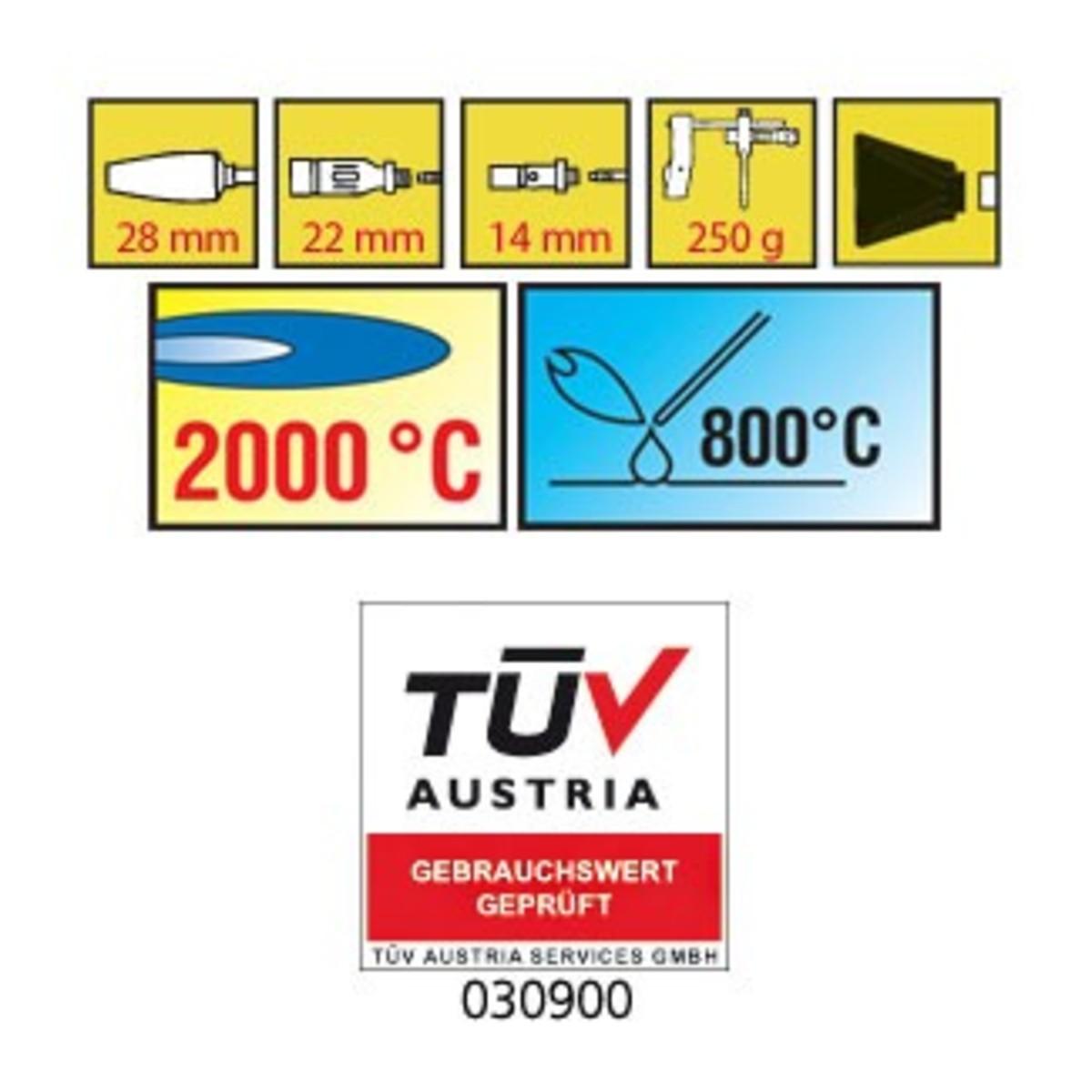 Bild 2 von Walter Turbo-Lötset 2000 °C, 15teilig