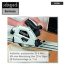Bild 3 von Scheppach Akku-Tauchsäge PL55Li 160mm - Black Edition