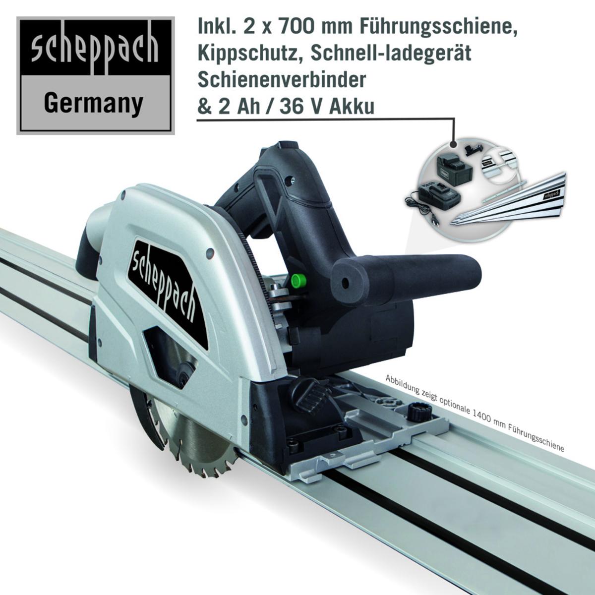 Bild 5 von Scheppach Akku-Tauchsäge PL55Li 160mm - Black Edition