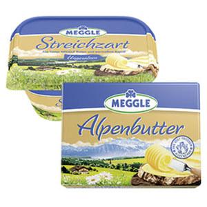 Meggle Alpenbutter oder Streichzart jede 250-g-Packung