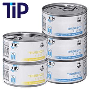 Thunfischfilets in Eigensaft, Sonnenblumenöl oder Dressing 195-g-Dose/ 140-g-Abtropfgewicht, ab 5 Dosen je