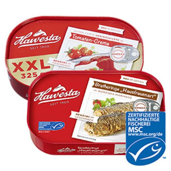 Hawesta Bratheringe oder XXL Heringsfilets jede 375-g-Dose/225 g Abtropfgewicht/jede 325-g-Dose