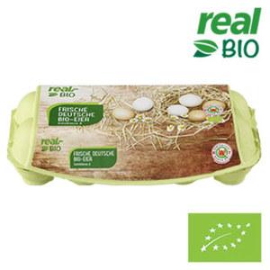 Frische Deutsche Bio-Eier Klasse M-L, jede 10-Stück-Packung