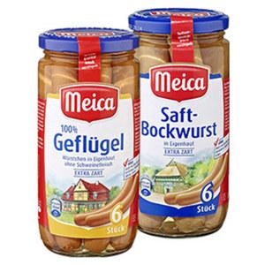 Meica Saft- oder Geflügelwürstchen jedes 6 Stück = 180-g-Glas