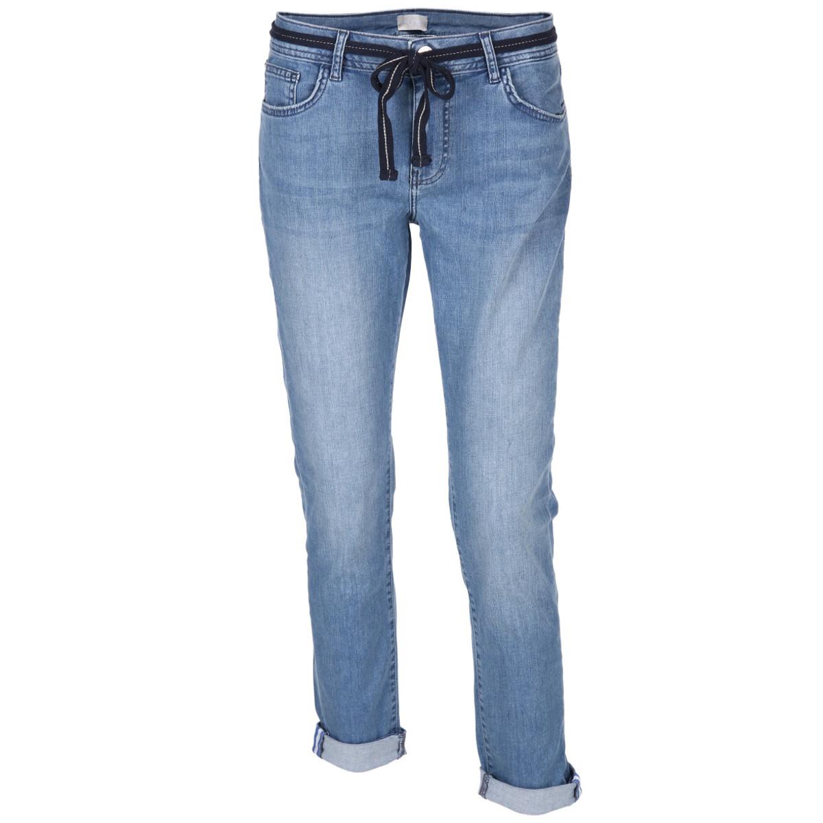 Bild 1 von Damen Jeans in 5-Pocket-Form mit Gürtel