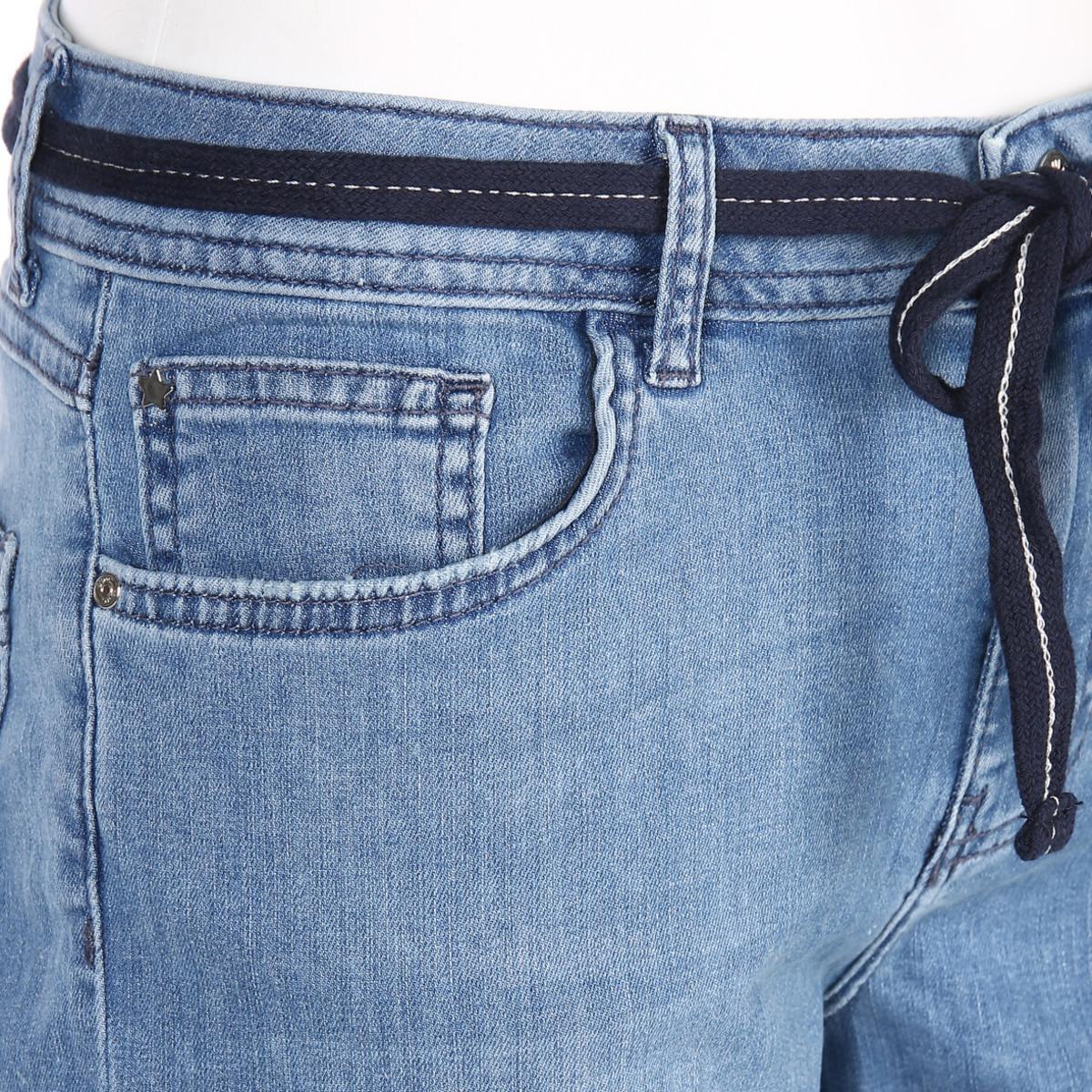 Bild 3 von Damen Jeans in 5-Pocket-Form mit Gürtel