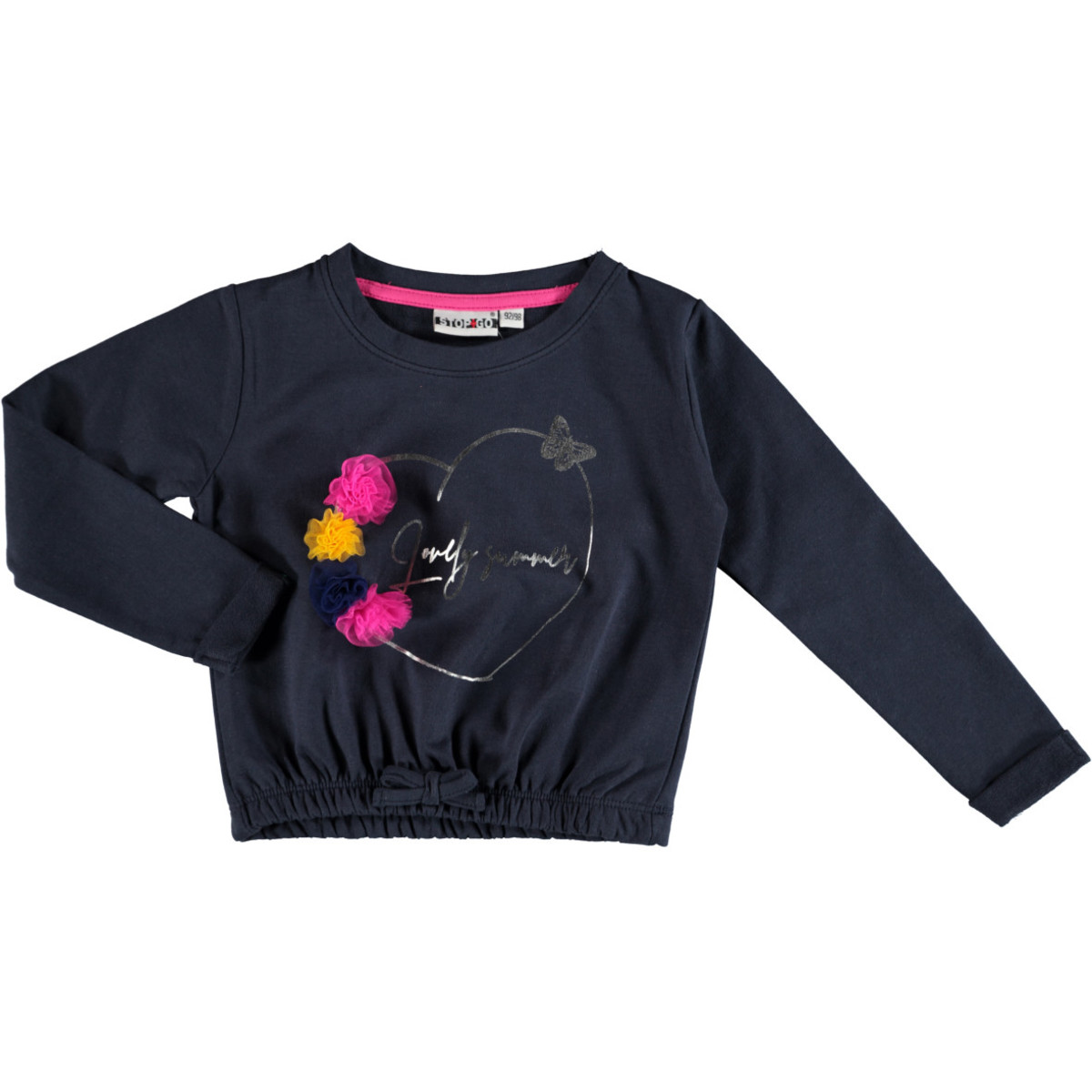 Bild 1 von Mädchen Sweatshirt mit Glitzer Print und Pompons