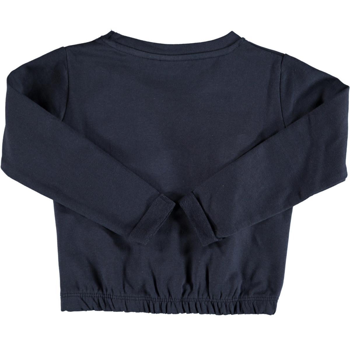 Bild 2 von Mädchen Sweatshirt mit Glitzer Print und Pompons