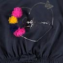 Bild 3 von Mädchen Sweatshirt mit Glitzer Print und Pompons