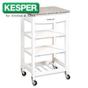 Küchenwagen mit Granitarbeitsplatte - Maße: ca. H 83 x B 47 x T 37 cm (Höhe inkl. Rollen)