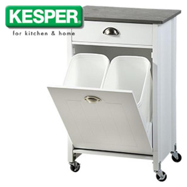 Küchenwagen mit Mülltrennsystem - 1 Schublade und 1 klappbarer ...