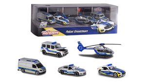 Majorette - Street Cars - Polizei Set - 5 Stück Geschenkpackung