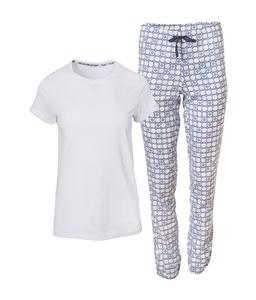 Pyjama weiß bedruckt XS