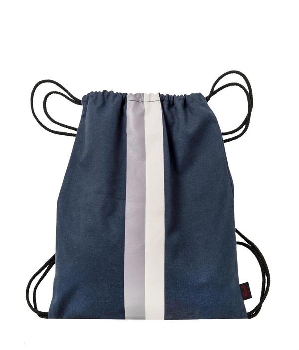 Gym Bag blau bedruckt designed by MICHALSKY