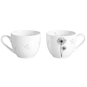 Zauberwerk - 'Wunschblume' Espressoobere 100 ml, weiß/schwarz (1 Stück);56334