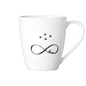 Zauberwerk - 'Infinity' Kaffeebecher 350 ml, weiß/schwarz (1 Stück); 56358