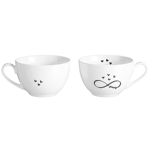 Zauberwerk - 'Infinity' Kaffeeobere 250 ml, weiß/schwarz (1 Stück); 56365