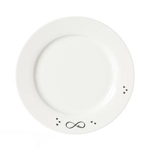 Zauberwerk - 'Infinity' Frühstücksteller ø 20,5 cm, weiß/schwarz (1 Stück); 56389