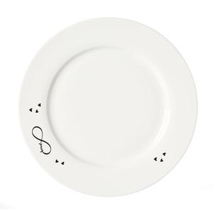 Zauberwerk - 'Infinity' Speiseteller ø 27 cm, weiß/schwarz (1 Stück); 56396