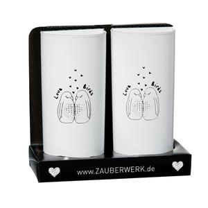 Zauberwerk - 'Lovebirds' Longdrinkbecher 270 ml, klar, 2-teilig (1 Set); 189834