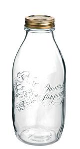 Einkochwelt 1-Liter-Flasche Quattro Stagioni mit Schraubdeckel im 6er-Pack