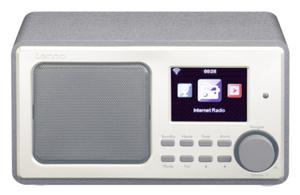 Lenco DIR-110BK, Internet, FM,PLL, 3 W, LCD, 7,11 cm (2.8 Zoll), Schwarz, Silber