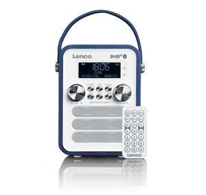 Lenco PDR-050, Tragbar, Digital, DAB+,FM, 87,5 - 108 MHz, 3 W, LCD