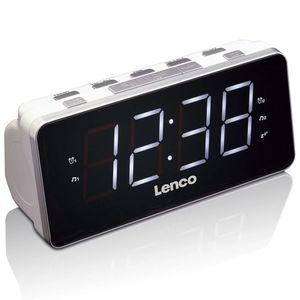 Lenco CR-19 Uhrenradio, Akkubetrieb, Weiß