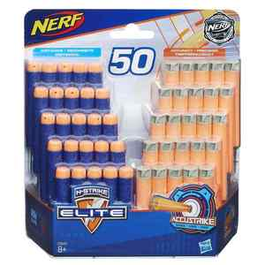 Nerf N-Strike Elite & AccuStrike 50er Dart Nachfüllpack (25 Elite/25 AccuStrike)