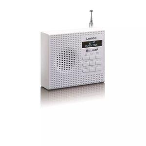 Lenco DAB+ Uhrenradio mit FM PDR-020 Weiß