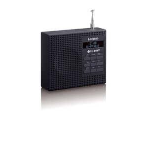 Lenco DAB+ Uhrenradio mit FM PDR-020 Schwarz